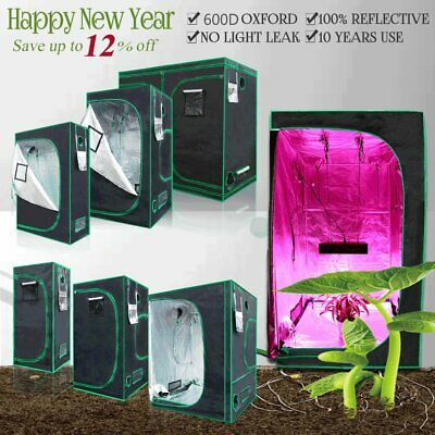 Indoor Portable Grow Tent Green Room Silver Mylar Lined Hydroponics Carbon UK