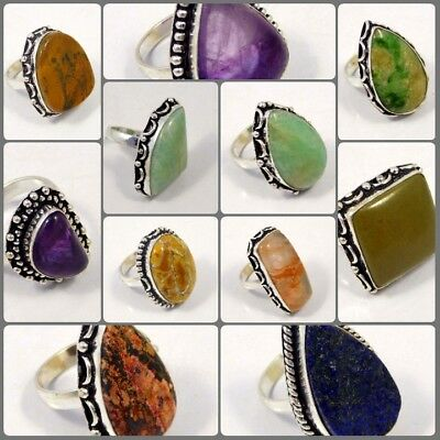 Multi Gemstone Silver Plated Free Shipping Ring Size-8.75 Jewelry JC4411-JC4440