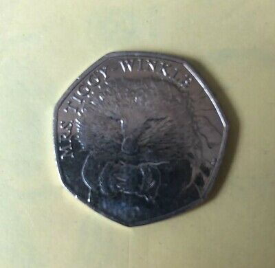 2016 MISS TIGGY-WINKLE - BEATRIX POTTER - 50p FIFTY PENCE COIN