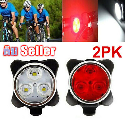 Waterproof IPX4 USB Bike Lights Front Rear Lamp Tail Light Rechargeable Bicycle
