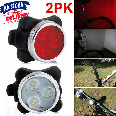 Waterproof Bicycle IPX4 Tail Light Rechargeable Front Rear Lamp Bike Lights USB