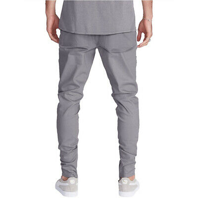 Men's Fashion Stitching Cotton Beam Foot Casual Pants Harem Pants Hardwearing UK