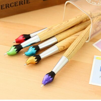 2Pcs Wooden Ballpoint Pen Creative Ball Pens Kids Writing Students School Gift