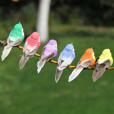 4x Künstliche Vögel Craft Birds Feather Foam Foto Prop Home Decoration