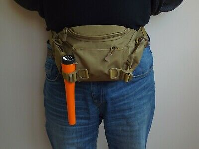 4 Pocket Heavy Duty metal detecting finds pouch bag & Magnifier