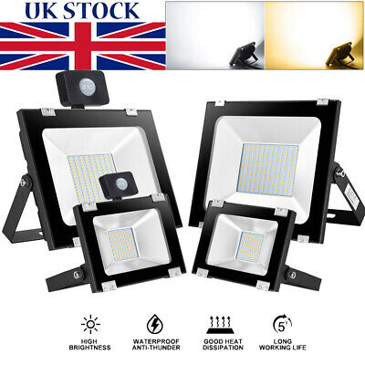 500W-10W Ultra-Thin LED Flood Light Motion SMD Outdoor Waterproof IP65 Lamp NEW