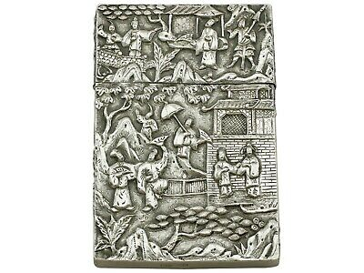 Antique Chinese Export Silver Card Case