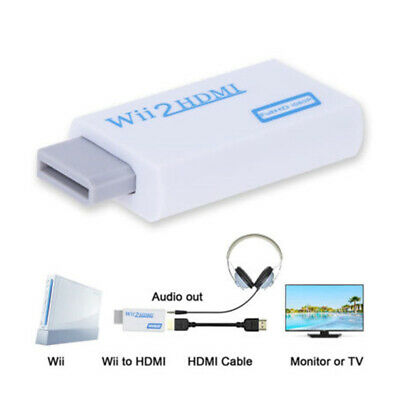 Wii Input to HDMI 3.5mm Jack Audio 1080P HD Audio Output Converter Adapter P2A1R