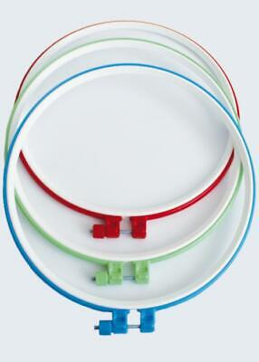 Handy Plastic Cross Stitch Machine Embroidery Hoop Ring  with a metal screw