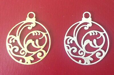 10 x ornate Christmas bauble die cuts cardmaking decorations embellishments xmas