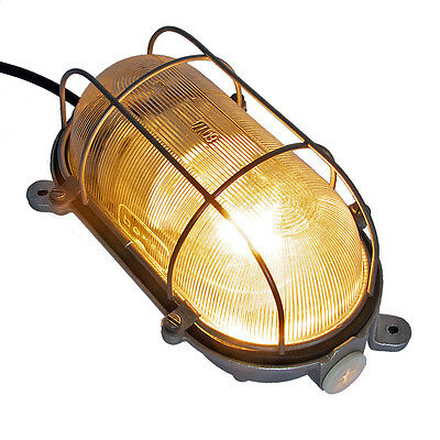Vintage German Industrial Factory Explosion Proof Lamp Light Wall Ceiling Light