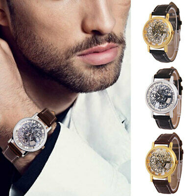 232A Hollowed out Dial Quartz Watch Woman Mens Fathers Day Gifts