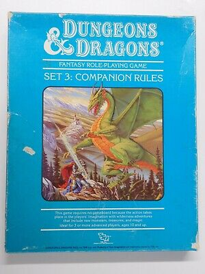 D&D Dungeons and Dragons Set 3 COMPANION RULES Boxed Set TSR 47883