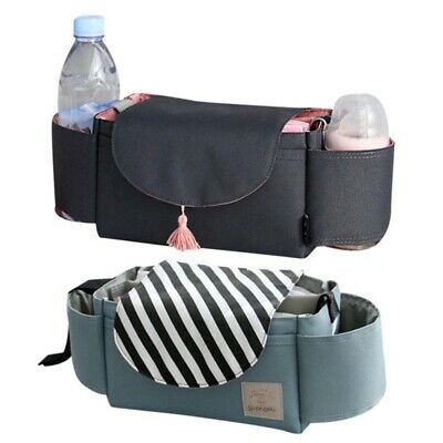 Baby Stroller Pram Pushchair Organiser Storage Buggy Cup Bottle Holder Mummy Bag