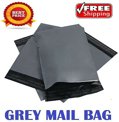"15""x 18"" Grey Mailing Bags Strong Parcel Postage Plastic Post Poly Self Seal"