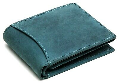 RFID Blocking Hunter Leather Trifold Wallet for Men with ID Windows Card Case