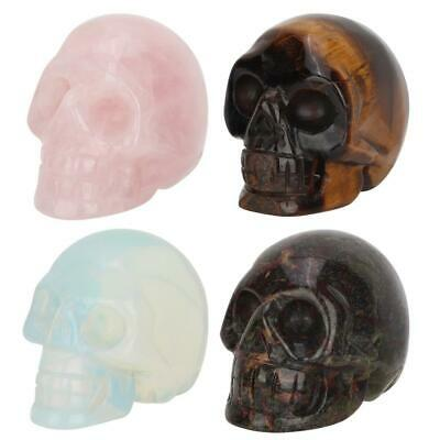 Natural Hand Carved Skull Semi-precious Natural Crystal Reiki Healing Gemstone
