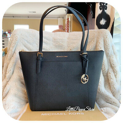 2c2e7a8a75d4 NWT MICHAEL KORS Saffiano Leather Ciara Large Ew Top Zip Tote Bag In ...