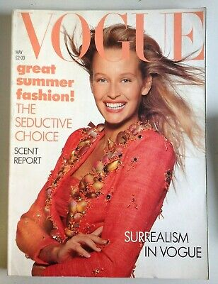 Vogue Magazine May 1988 Cover by Patrick Demarchelier  (C1005)