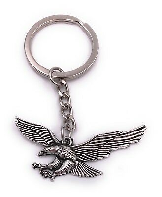 Eagle Bird Owl Griffin Key Ring Pendant Silver Made of Metal