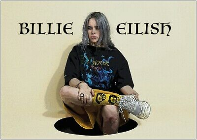 Billie Eilish Music Large Poster Art Print A0 A1 A2 A3 A4 Maxi