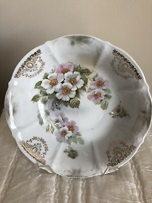 Vintage Bowl With Beautiful Floral Design And Some Gold design ~ MADE IN GERMANY