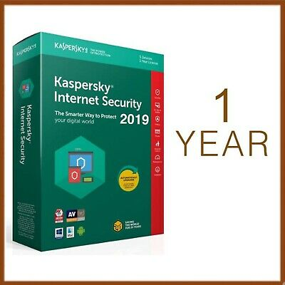 Kaspersky Internet Security 2019 1 Year - Global License