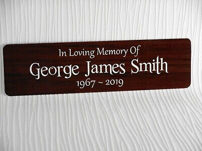 Personalised Memorial Plaque Grave Marker Memory Bench Sign Metal WEATHERPROOF