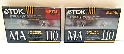 TDK 2 New Sealed MA 110 Metal Cassette Tapes IEC IV Type IV