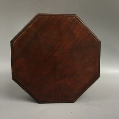 "8"" Chinese old antique Huanghuali wooden handcarved Hexagon box"