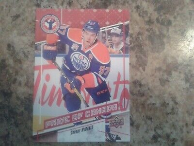 CONNOR McDAVID 2016/17 UPPER DECK NATIONAL HOCKEY CARD DAY CARD CAN9  OILERS