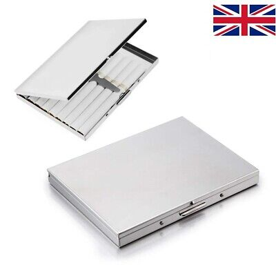 UK High grade Stainless Steel Cigarette Case in 1920s style, holds 9 cigarettes