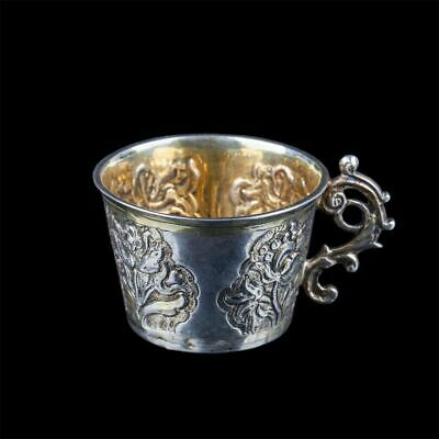 18th cent. RussianTobolsk silver niello cup charka Russland silber Russe argent