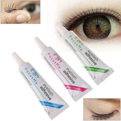 ab8f430ab69 Black White Clear Waterproof False Eyelashes Makeup Adhesive Eye Lash Glue  JTPD