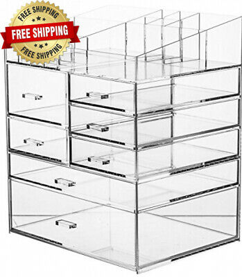 6 Tier Extra Large Clear Acrylic Makeup,Cosmetic Organizer and Jewelry Storage