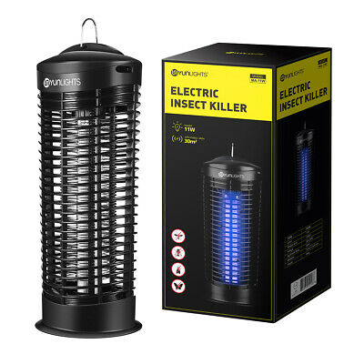 11W Electric UV Insect Killer Mosquito Pest Fly Zapper Catcher Trap LED Lamp UK