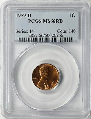 1959-D Lincoln Memorial Cent 1c PCGS MS66 RD
