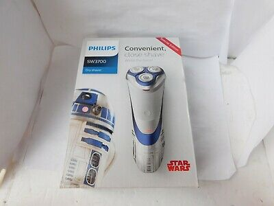 Philips SW3700/07 Star Wars R2-D2 Dry Electric Shaver - White. new sealed free p