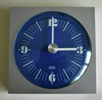 Vintage 70s KRUPS West German Wall Clock Atomic Space Age New Junghans Movement