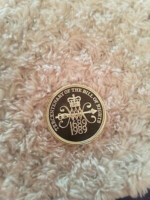 1989 Proof English Decimal Bill Of Right Two Pound £2 Coin