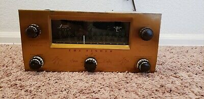 The Fisher 80-T tube tuner 12ax7 pre-amp POWERS UP