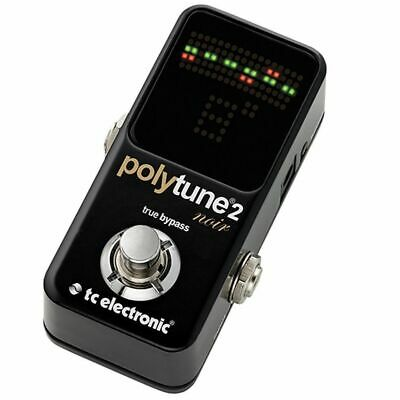 NEW TC Electronic Polytune Noir Mini 2 Pedal Tuner