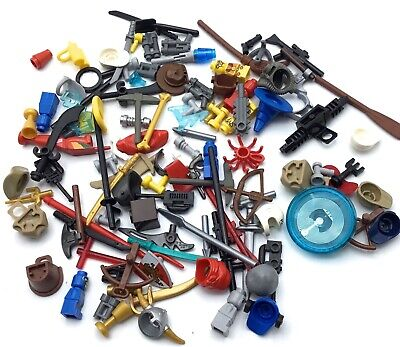 10x Genuine Lego MInifigure Accessories Weapons Random from Selection