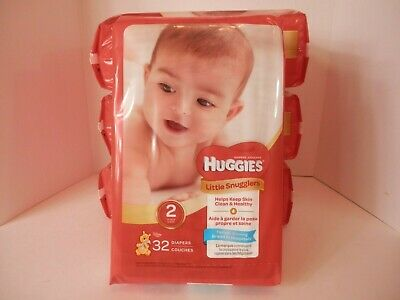 Huggies Little Snugglers Size 2-128 Total Diapers-Free Shipping