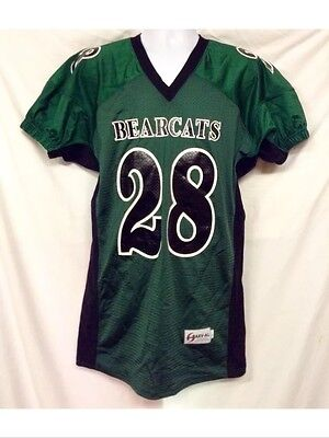 NWT Harv-AL Cincinnati Bearcats Dark Green Polyester Football Jersey #28-LRG