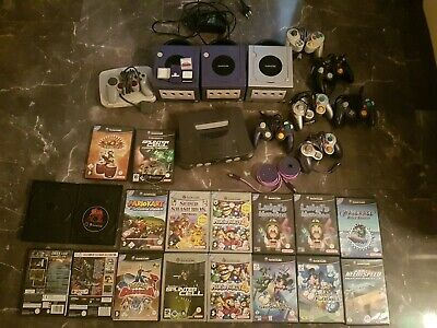 Nintendo Gamecube +Spiele,N64,Mario Party, super Smash,Mario Kart,Luigis Mansion