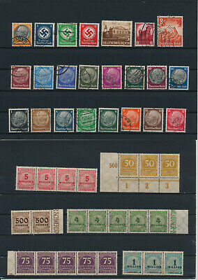 Germany, Deutsches Reich, Nazi, liquidation collection, stamps, Lot,used (CP 6)