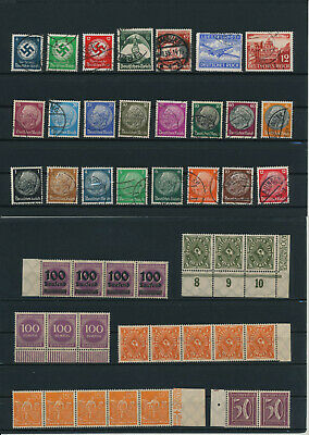 Germany, Deutsches Reich, Nazi, liquidation collection, stamps, Lot,used (CP 8)