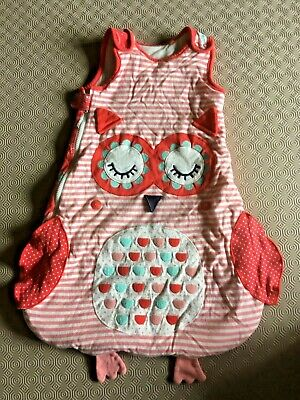 Baby Girls Owl Sleeping Bag/Sack From Tu  Age 0-6 Months 2.5 Tog  Ex Cond