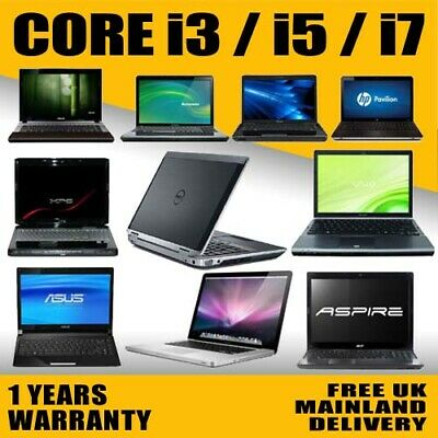FAST CHEAP CORE i3/ i5/ i7 LAPTOP HP/LENOVO/DELL/TOSHIBA WINDOWS 7/10 500GB 8GB